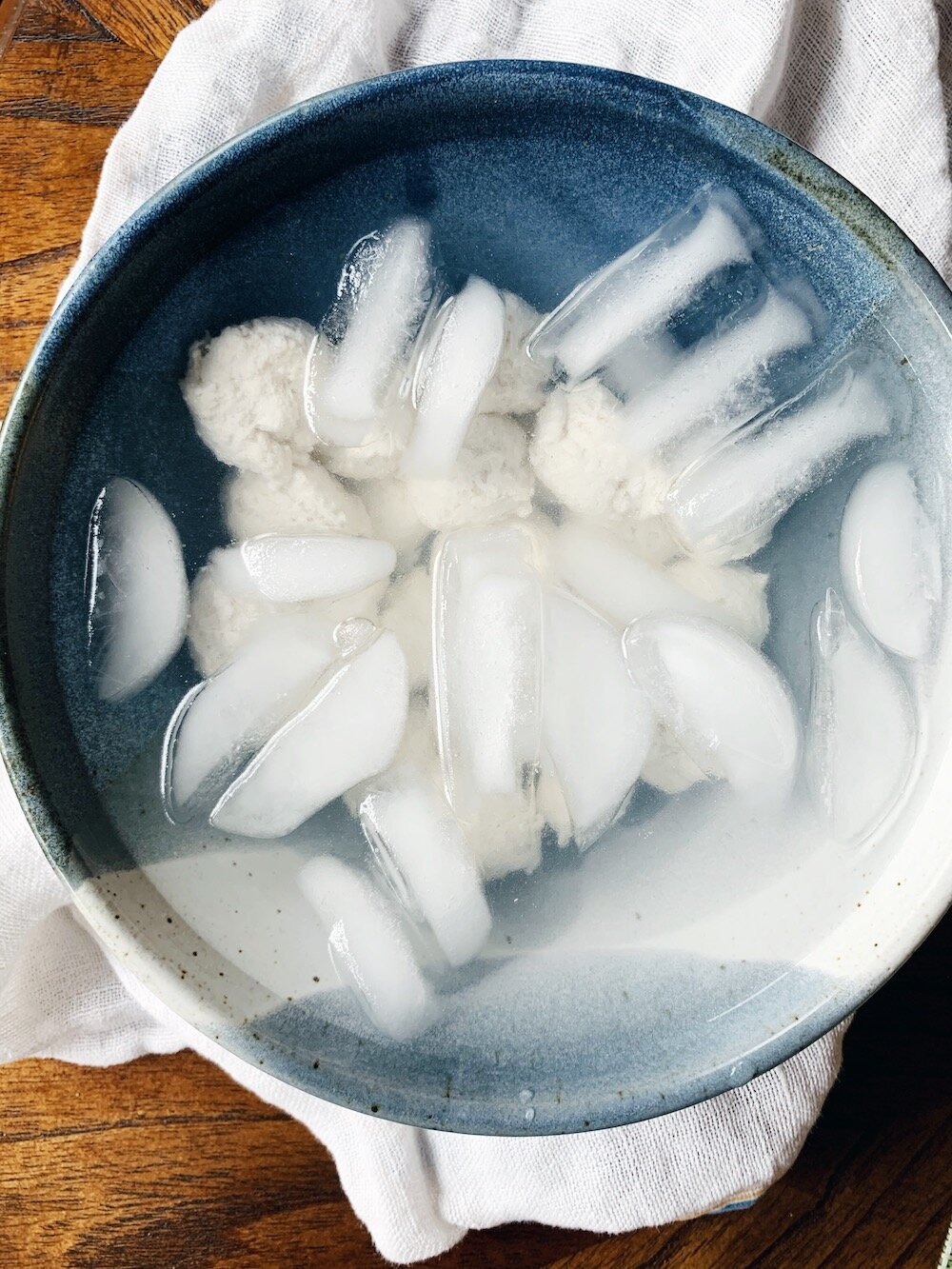 Cheese in Ice Bath
