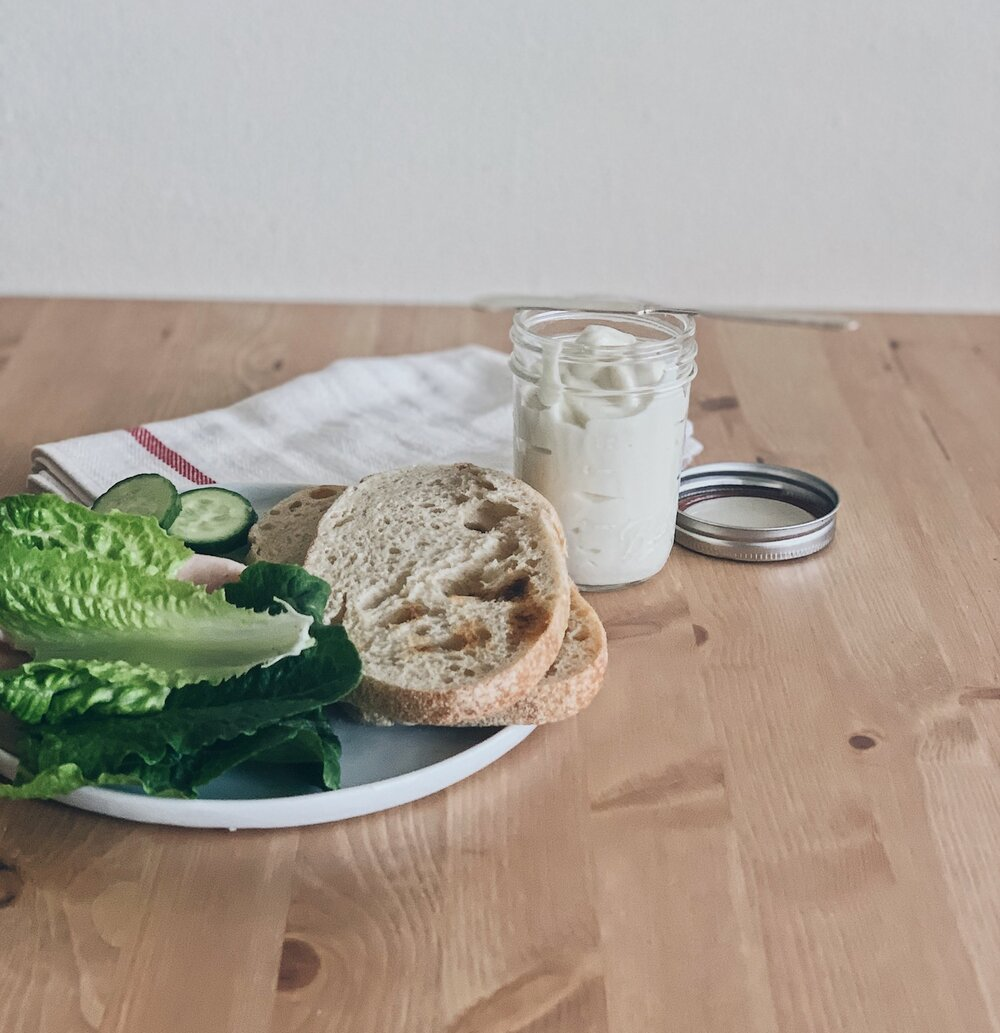 Sandwich Fixings with a side of Egg-Free Mayo
