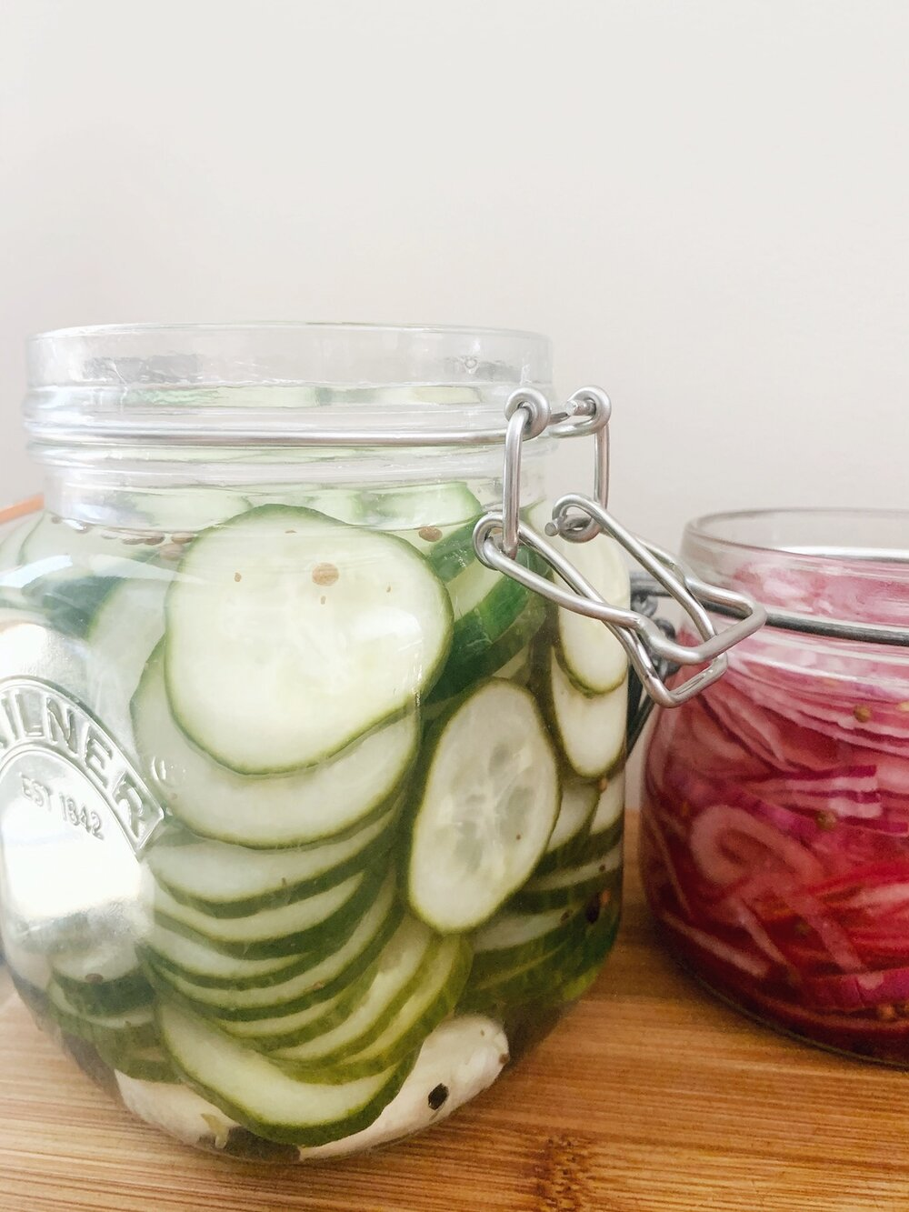 Quick Pickled Cucumbers and Red Onions