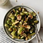 Serving of Brussels sprouts salad