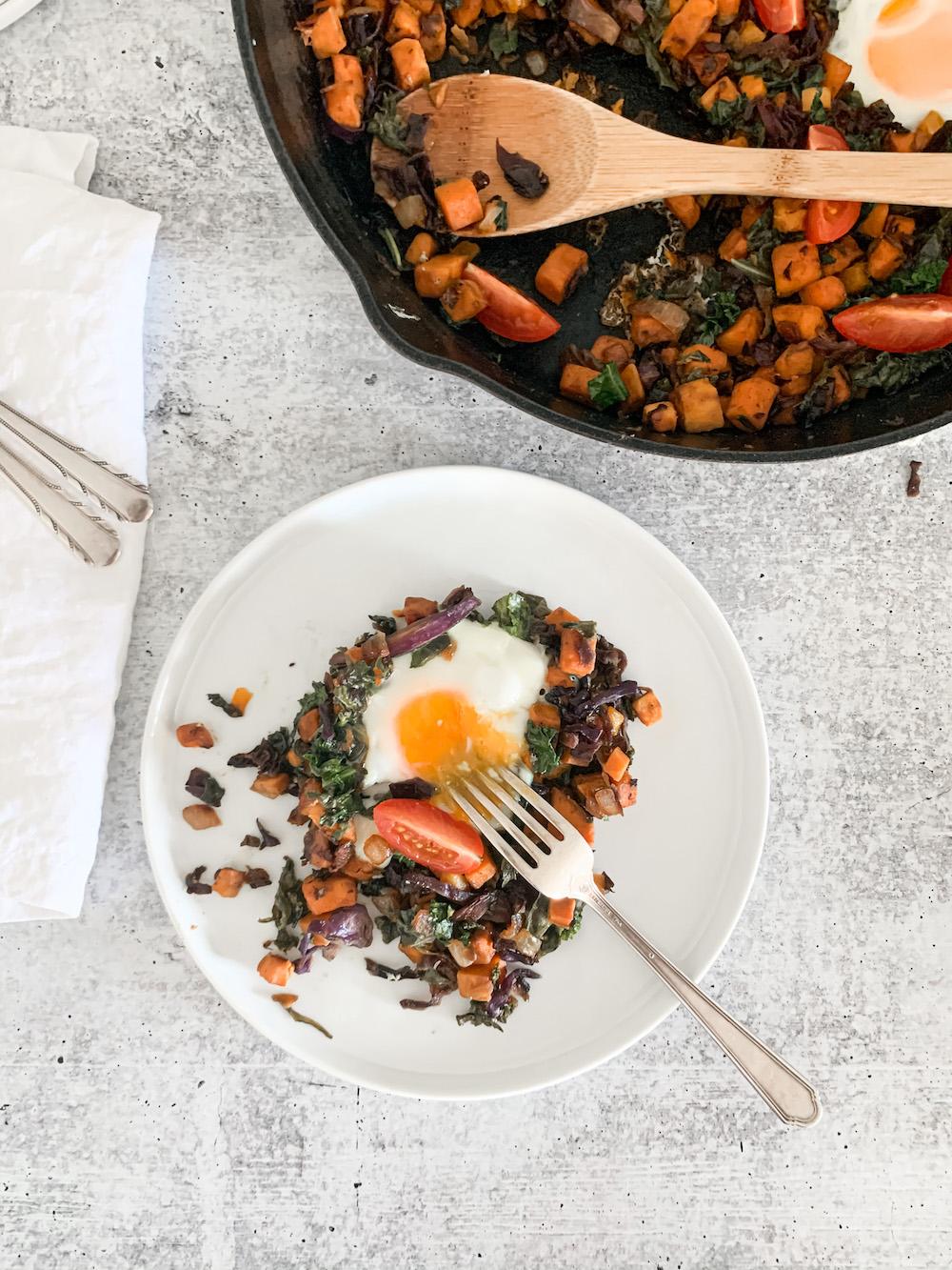 healthy serving of breakfast hash