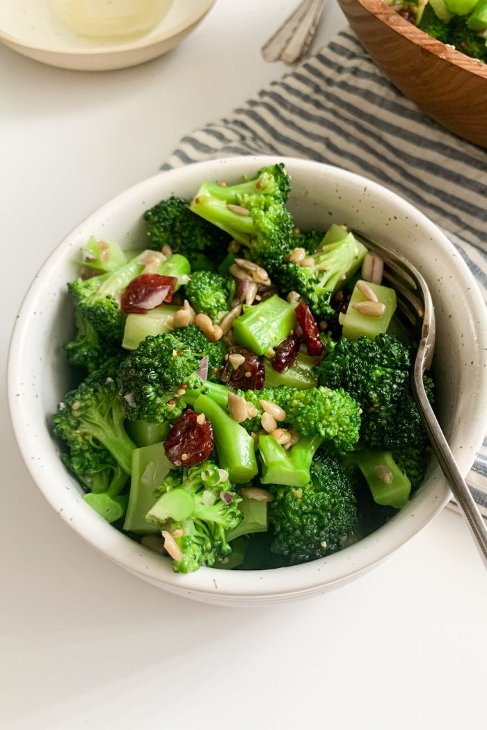 Healthy Broccoli Salad with Honey Mustard Dressing