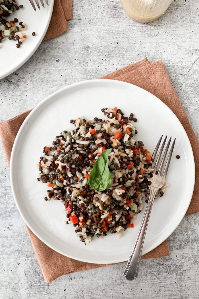 Crunchy Black Lentil & Rice Salad