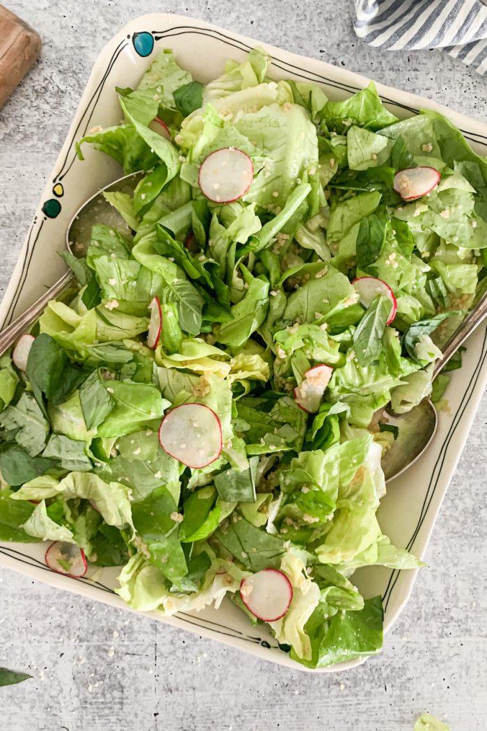 Simple Butter Lettuce Salad with Lemon Honey Vinaigrette